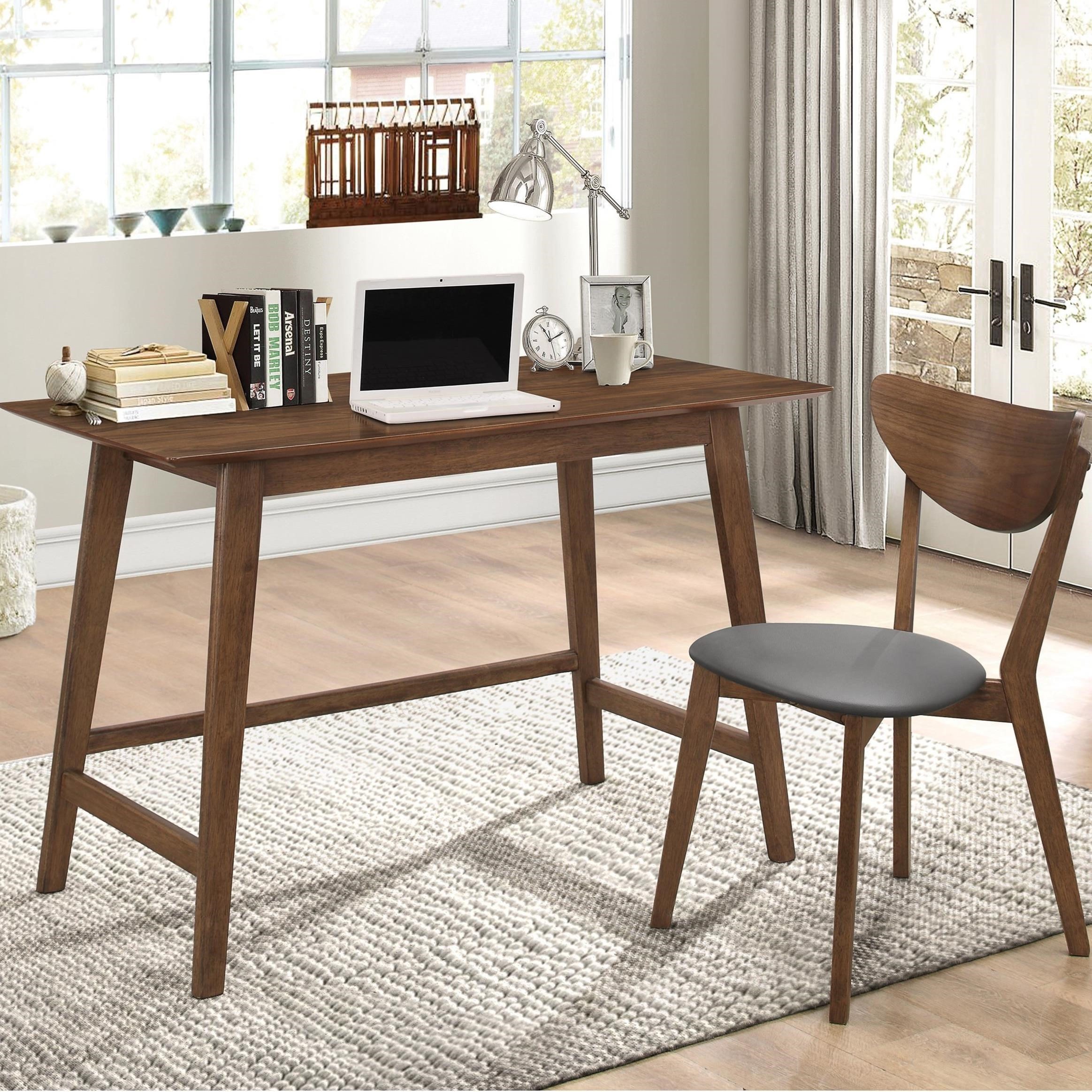 Coaster Mid Century Desk And Chair Set