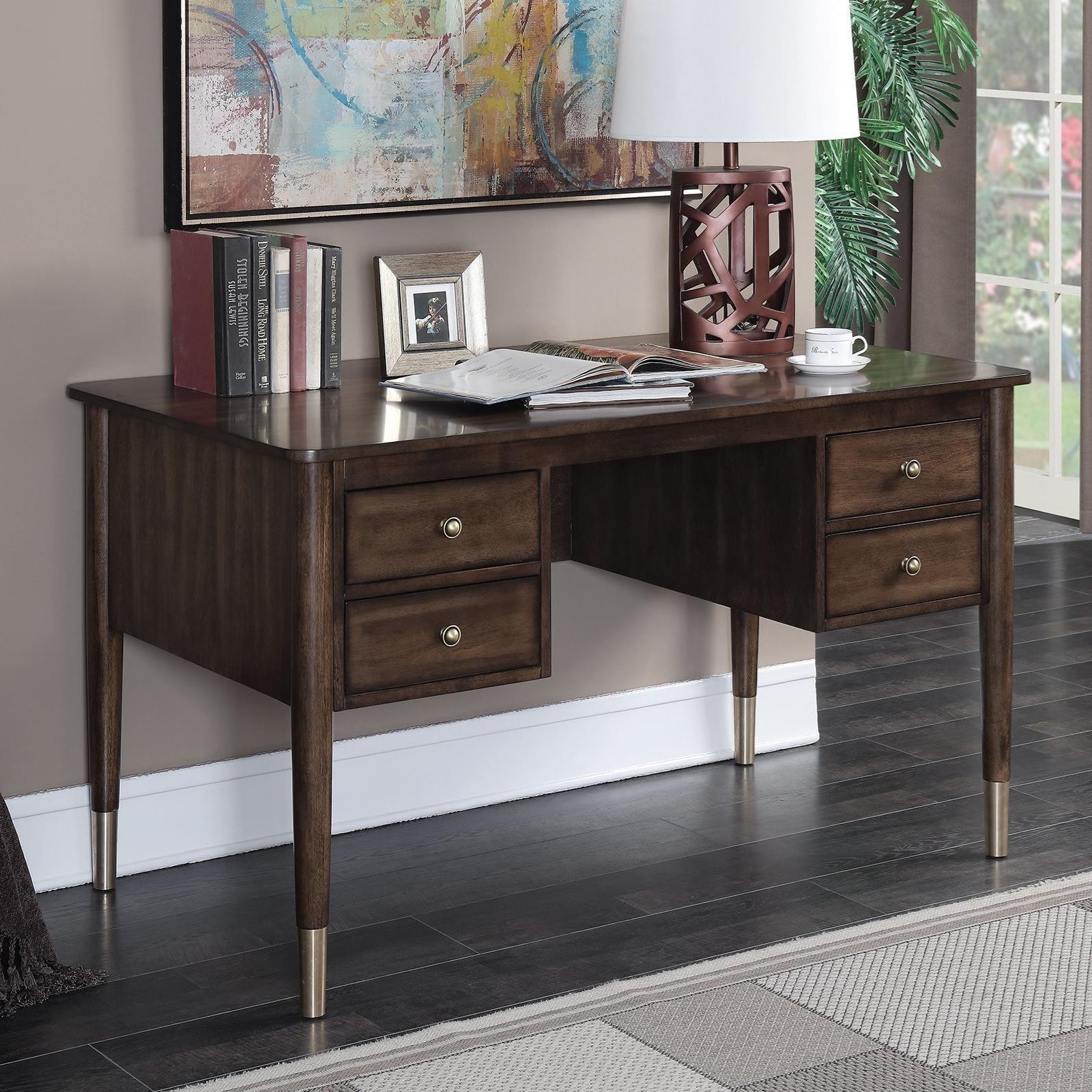 coaster 801122 mid century modern writing desk miller home table rh millerhome com