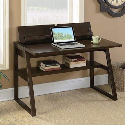 Coaster   Transitional Writing Desk with Outlet