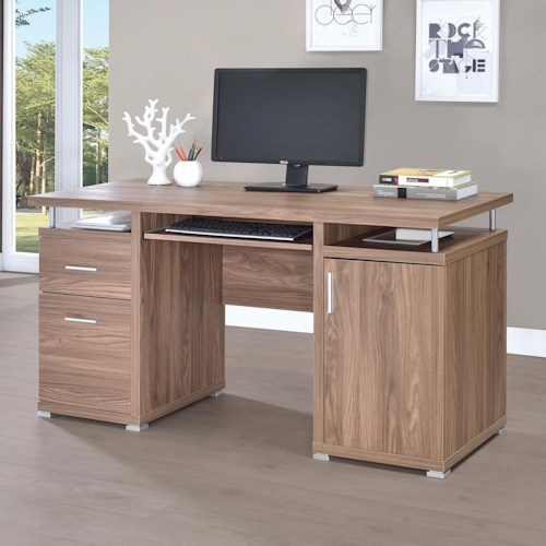Coaster Computer Desk With 2 Drawers And Cabinet