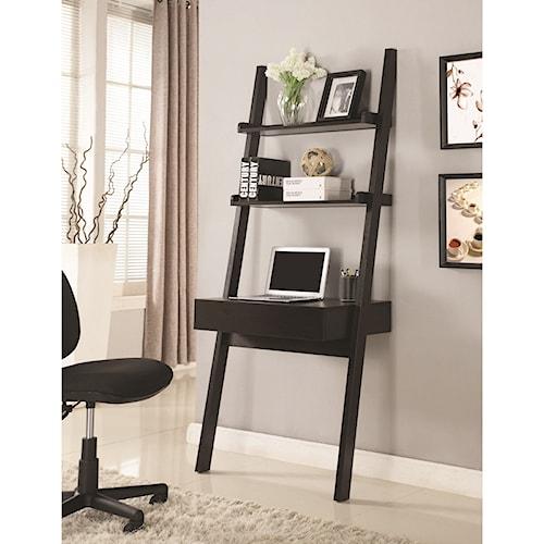 Coaster wall leaning writing ladder desk value city furniture table desks writing desks - Value city office desk ...