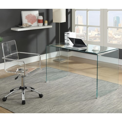 Coaster  - Contemporary Glass Desk