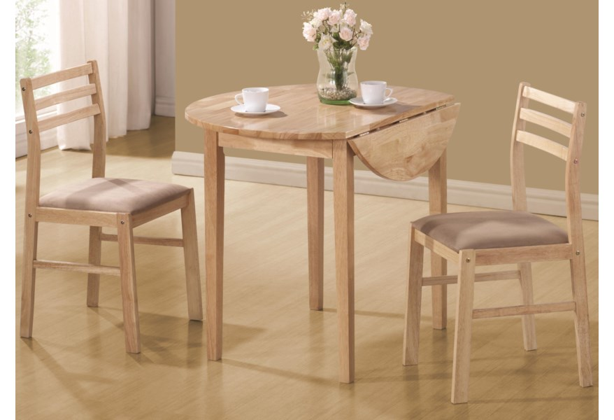 Dinettes Casual 3 Piece Table & Chair Set by Coaster at Dunk & Bright  Furniture