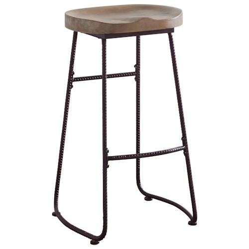 Coaster Dining Chairs And Bar Stools Rustic Bar Stool With Saddle Seat Value City Furniture