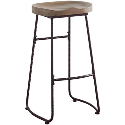 Coaster Dining Chairs and Bar Stools Rustic Bar Stool with Saddle Seat