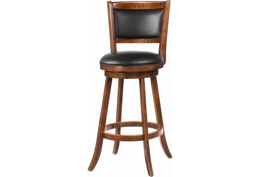 Coaster Dining Chairs And Bar Stools 29 Swivel Bar Stool With Upholstered Seat Value City Furniture Bar Stools