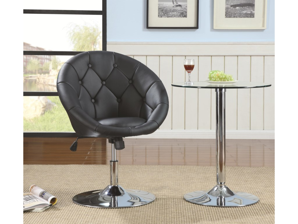 Coaster Dining Chairs and Bar StoolsSwivel Chair (Black)