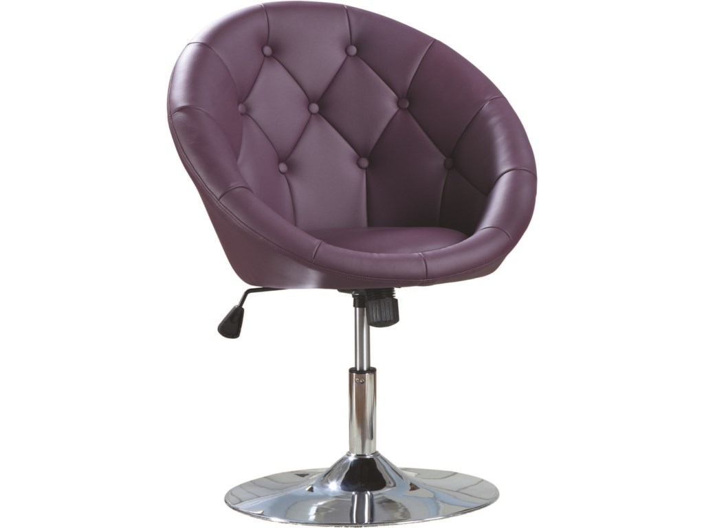 Coaster Dining Chairs and Bar StoolsSwivel Chair (Purple)