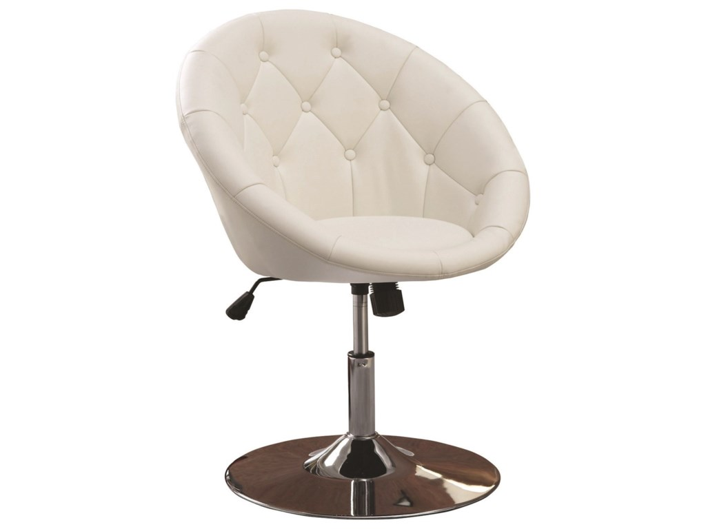 Coaster Dining Chairs and Bar StoolsSwivel Chair (White)