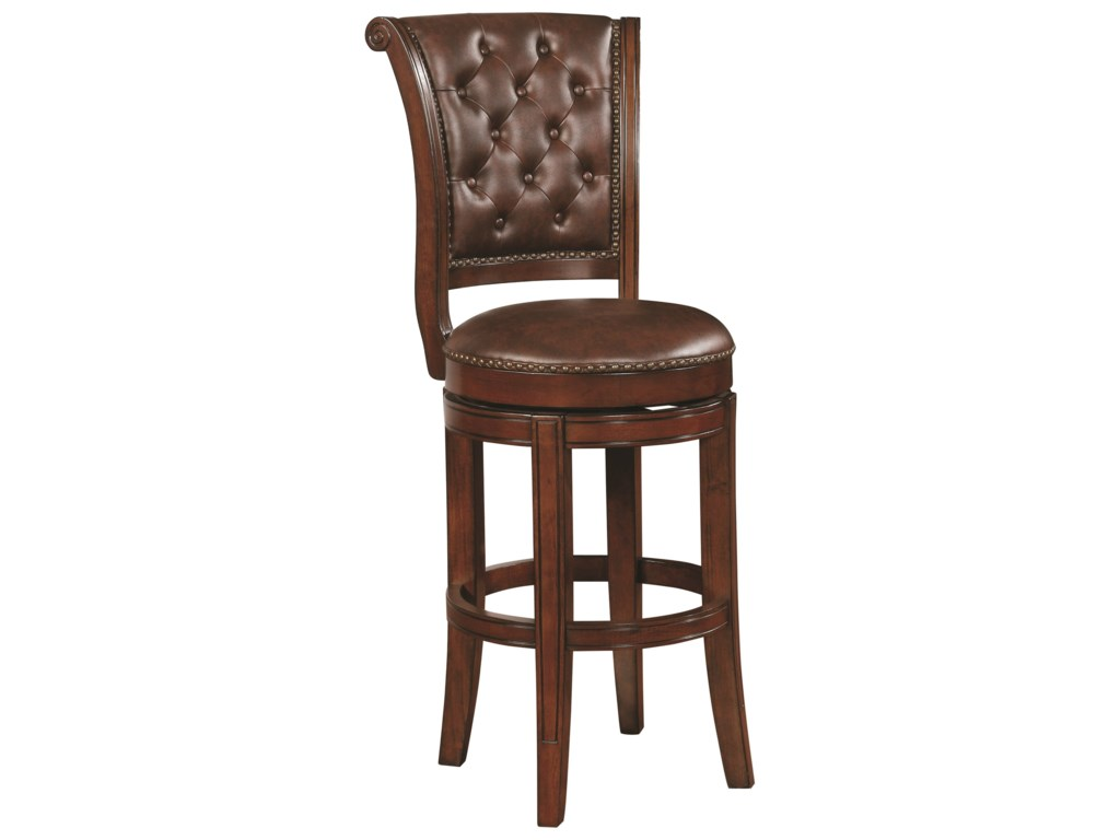Coaster dining chairs and bar stools traditional bar stool with button tufting