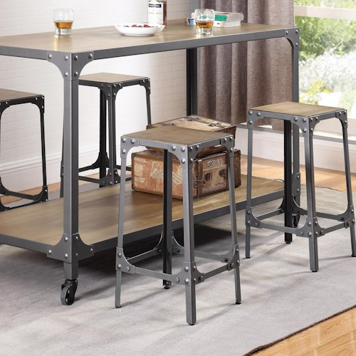 Coaster dining chairs and bar stools rustic stool