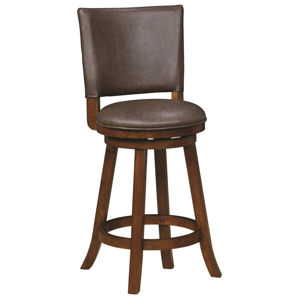 Coaster dining chairs and bar stools traditional upholstered swivel counter height stool