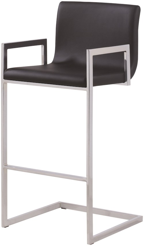 Coaster Dining Chairs and Bar Stools Contemporary Bar Stool with Upholstered Seat