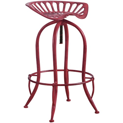 Coaster Dining Chairs and Bar Stools Metal Tractor Seat Adjustable Stool