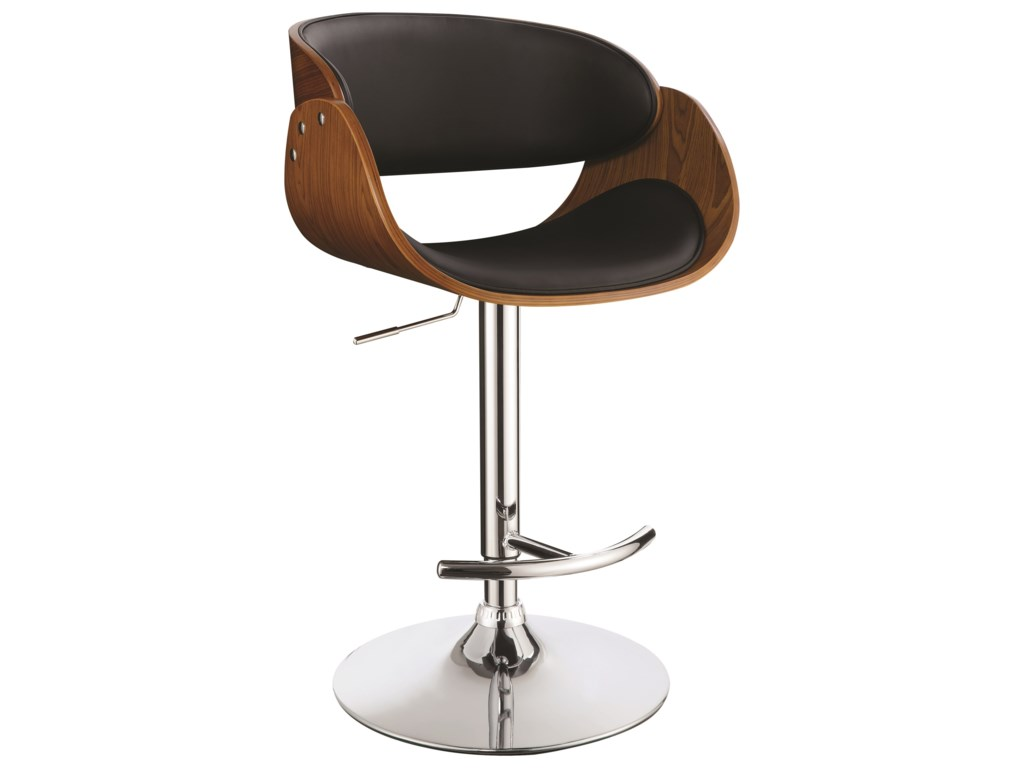 los angeles 7b724 dae10 Dining Chairs and Bar Stools Contemporary Adjustable Bar Stool by Coaster  at Rooms for Less