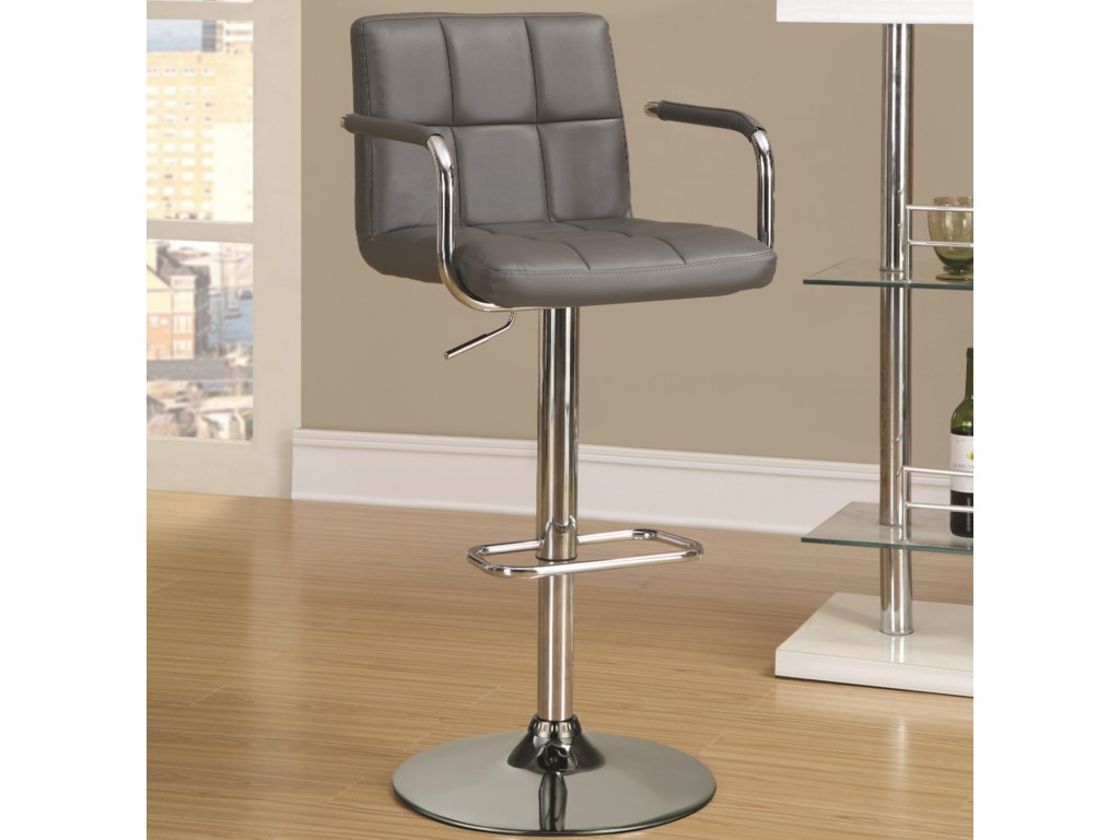 Bar Stool Shown at Maximum Height