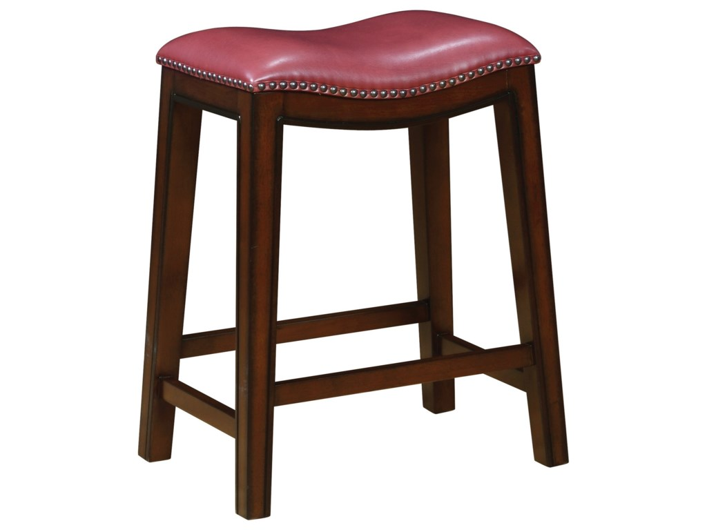 Coaster Dining Chairs And Bar Stools Backless Counter Height Stool With Nailhead Accents
