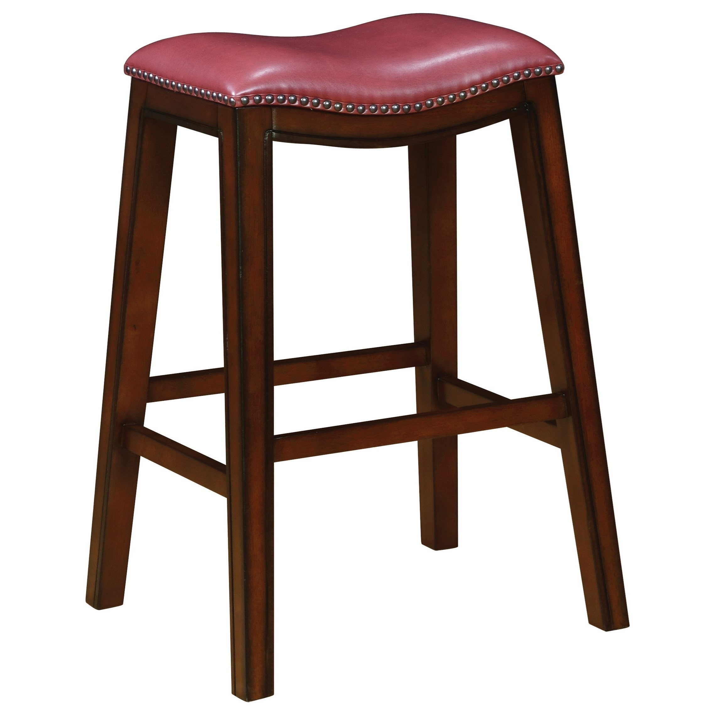 Upholstered Backless Bar Stool With Nailhead Trim Dining