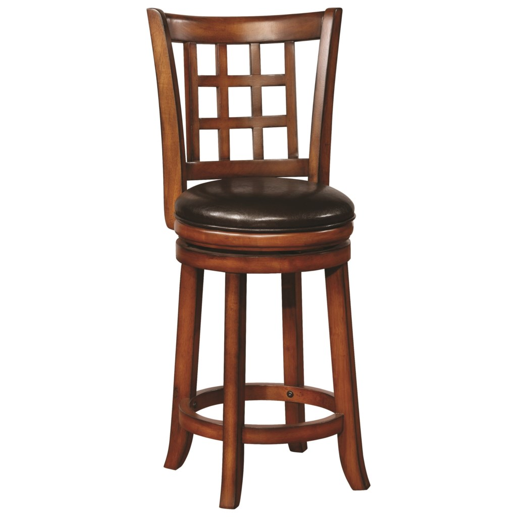 Coaster dining chairs and bar stools 182023 swivel counter height stool with upholstered seat dunk bright furniture bar stools