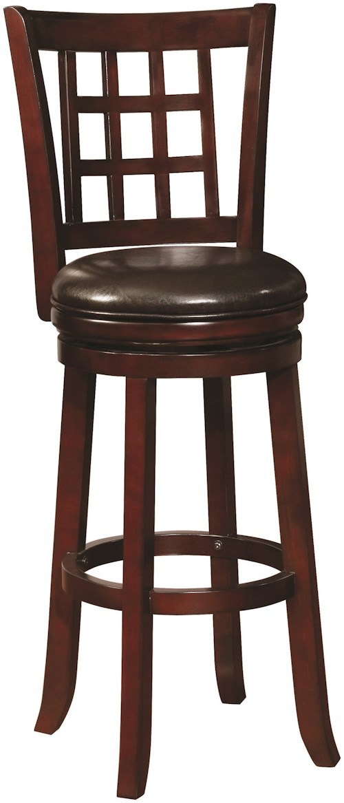 Coaster Dining Chairs and Bar Stools Swivel Barstool with Upholstered Seat