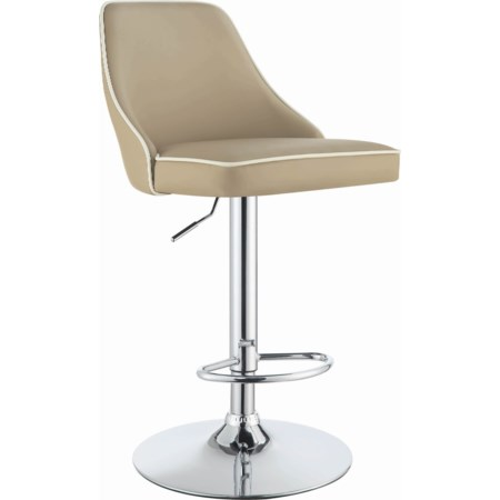Adjustable Bar Stool - Beige
