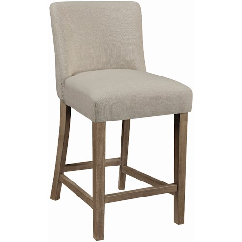 Coaster Dining Chairs and Bar Stools Vintage Counter Height Stool with Nailheads