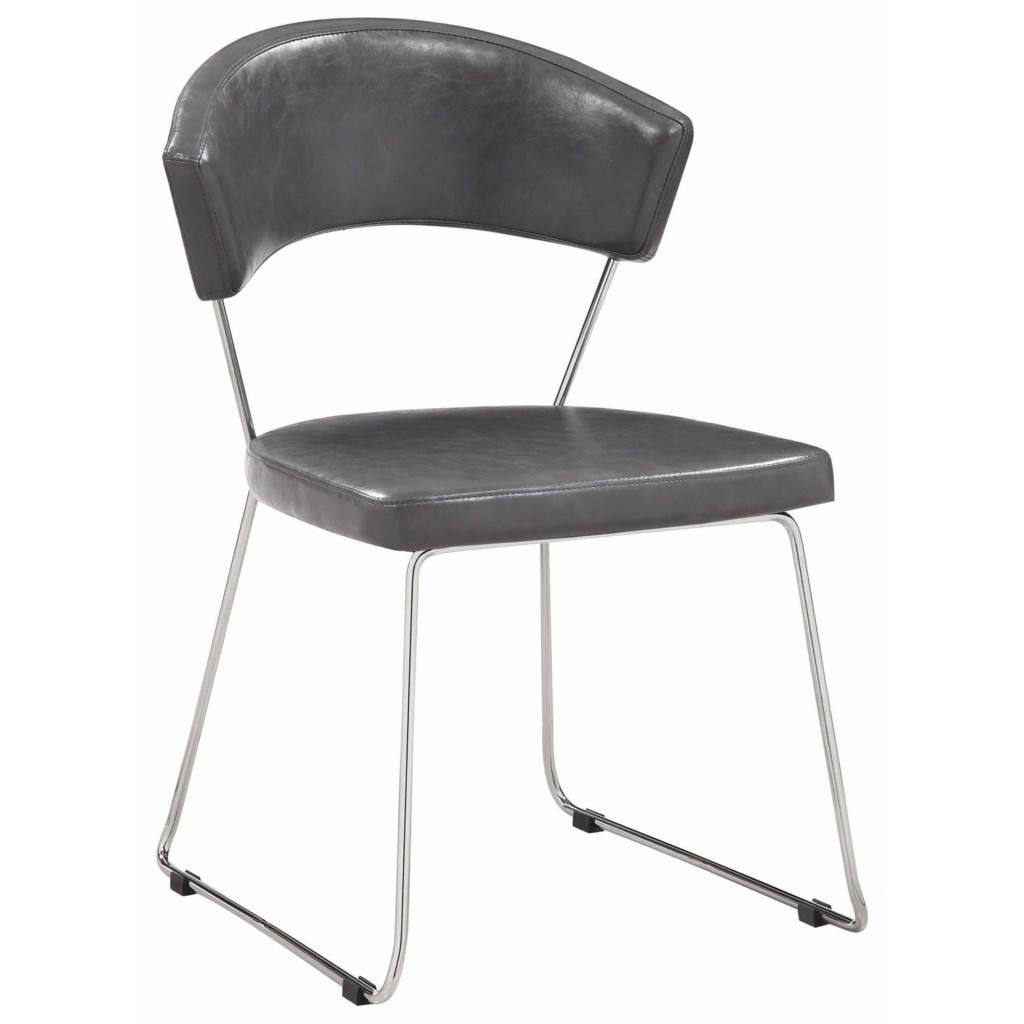 About A Chair 12 Side Chair.Coaster Dining Chairs And Bar Stools 190712 Gray Leatherette Side