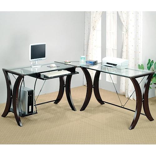 Coaster Division L-Shape Computer Desk Unit