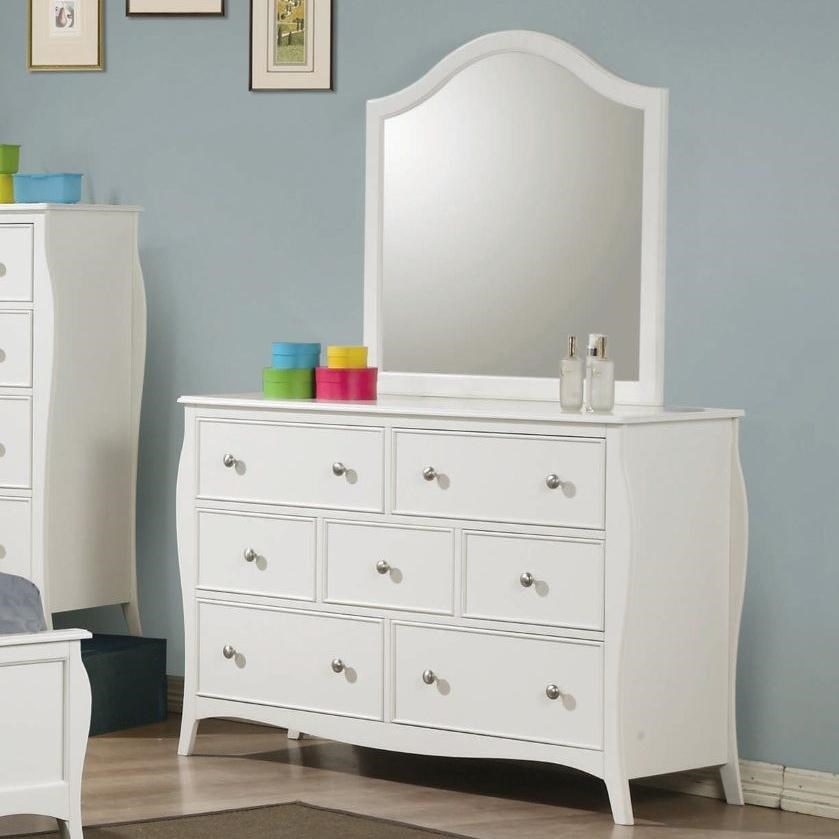 Coaster Dominique Drawer Dresser With Mirror Dunk Bright