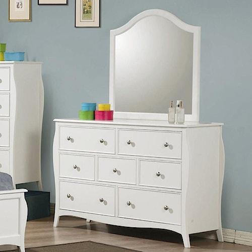 Coaster Dominique Drawer Dresser with Mirror