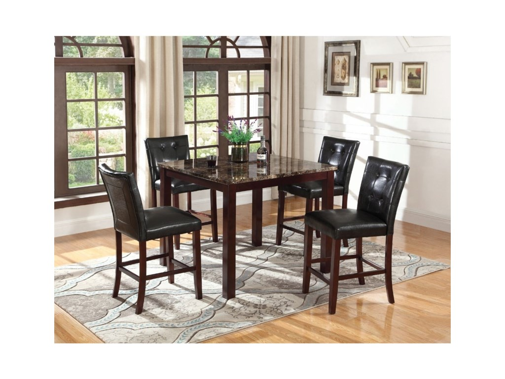 Coaster DuceyCounter Height Table and Chair Set