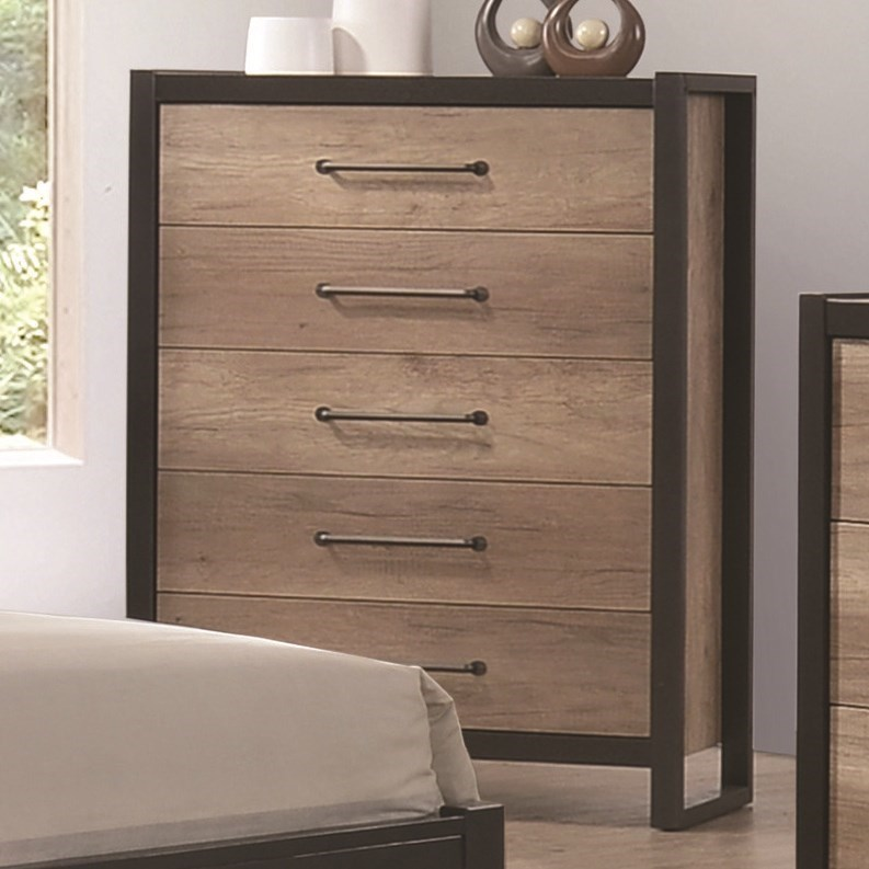 Marvelous Coaster Edgewater 5 Drawer Industrial Chest | Value City Furniture | Drawer  Chests