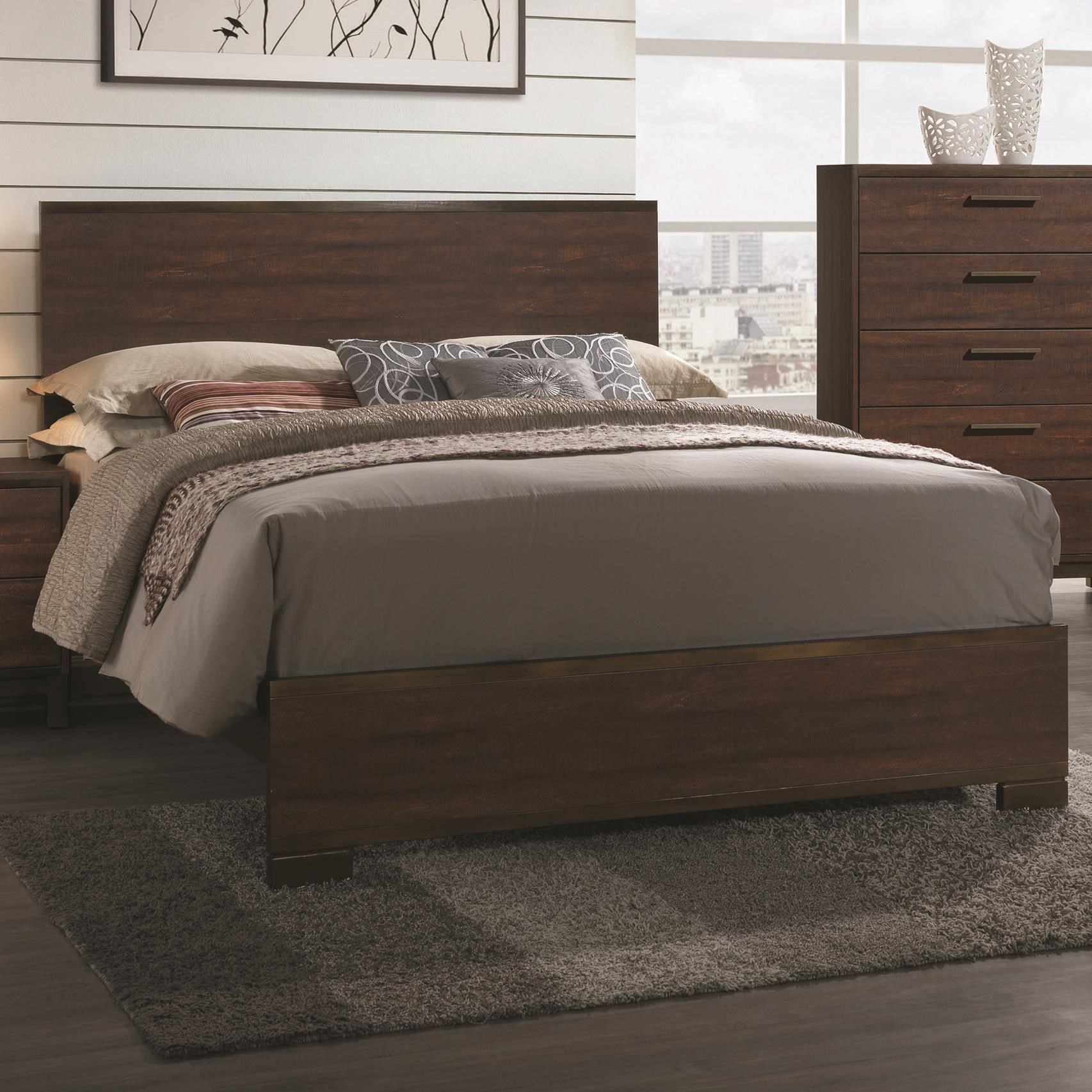 eastern king bed Edmonton Eastern King Bed with Wood Headboard by Coaster
