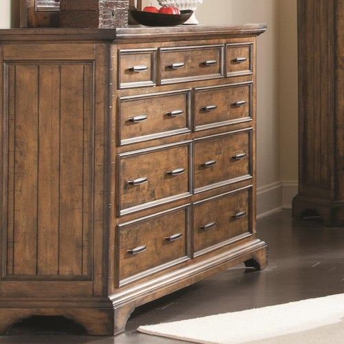 Coaster Elk Grove Dresser with 9 Drawers and Jewelry Tray