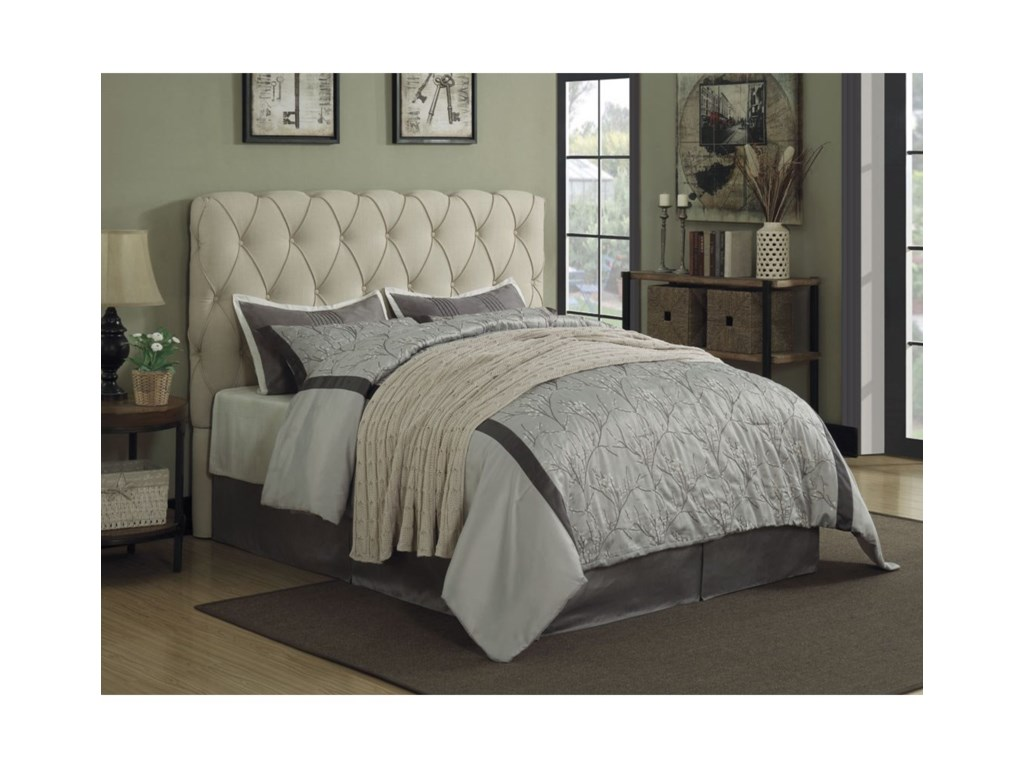new photos 6d459 dee56 Coaster Elsinore Upholstered King Bed with Button Tufting ...