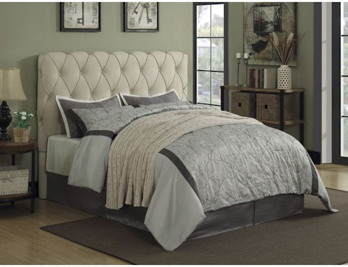 Coaster Elsinore Upholstered King Bed with Button Tufting - Headboard Only