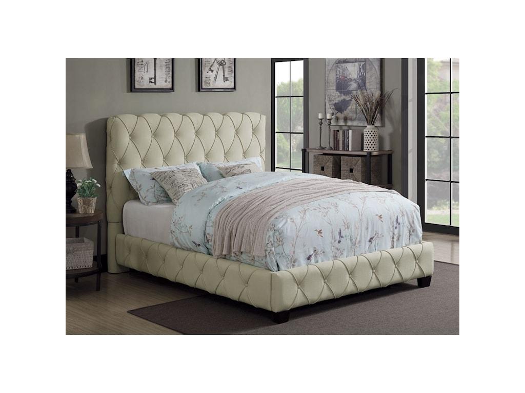 Coaster ElsinoreUpholstered Cal King Bed