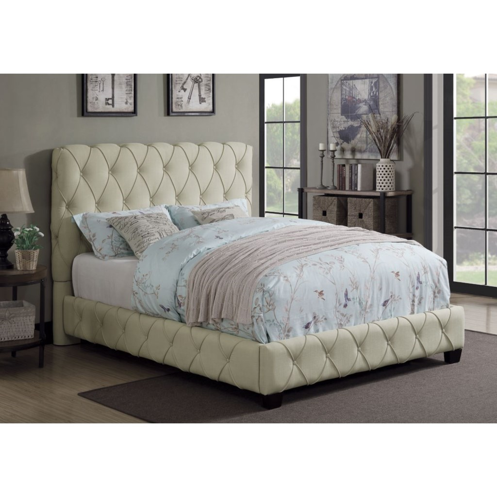 Coaster Elsinore Upholstered Twin Bed With Button Tufting Knight