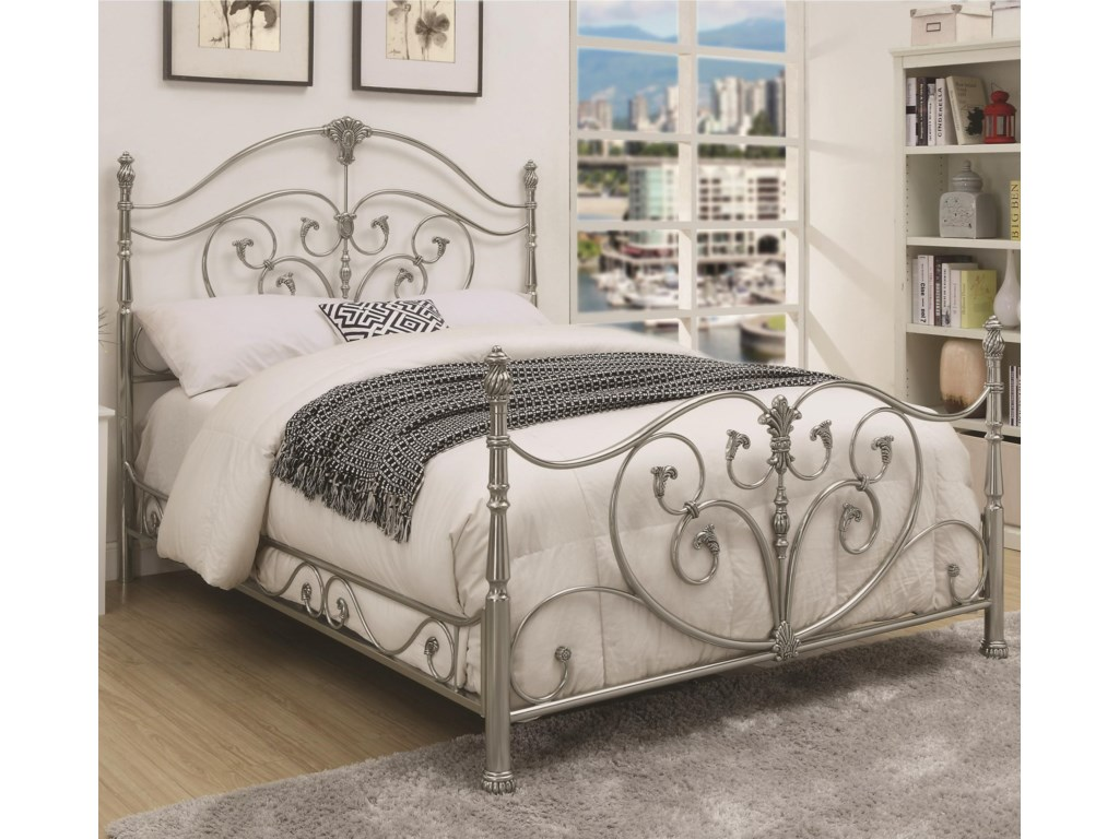 Rooms Collection Two EvitaCalifornia King Metal Bed