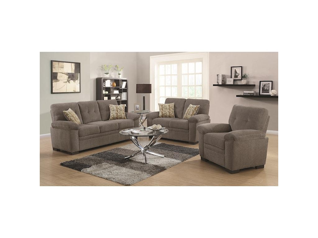Coaster FairbairnStationary Living Room Group