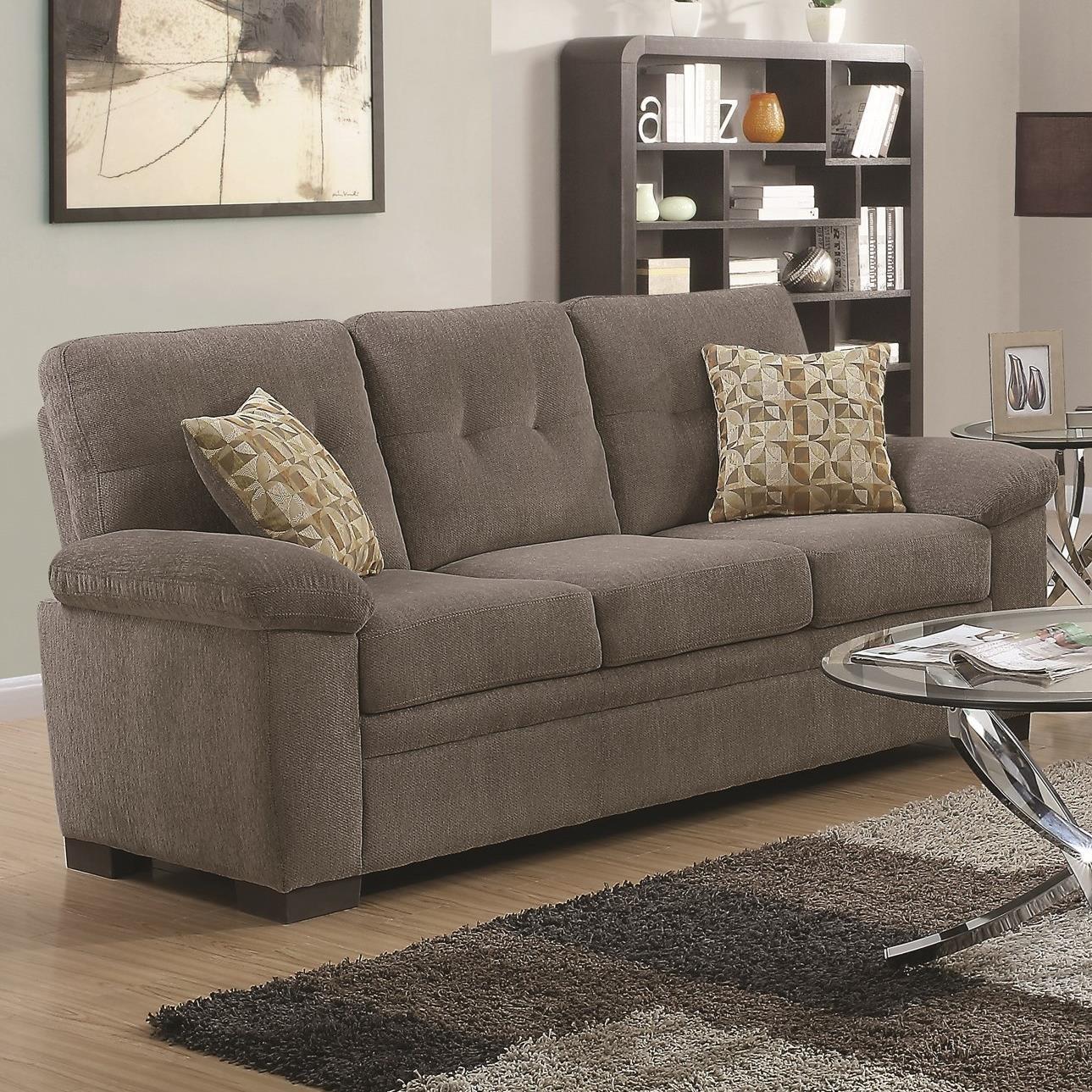 Coaster Fairbairn Sofa With Casual Style