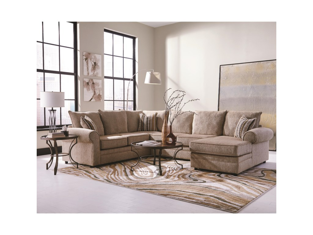 Fairhaven Cream Colored U Shaped Sectional With Chaise By Coaster