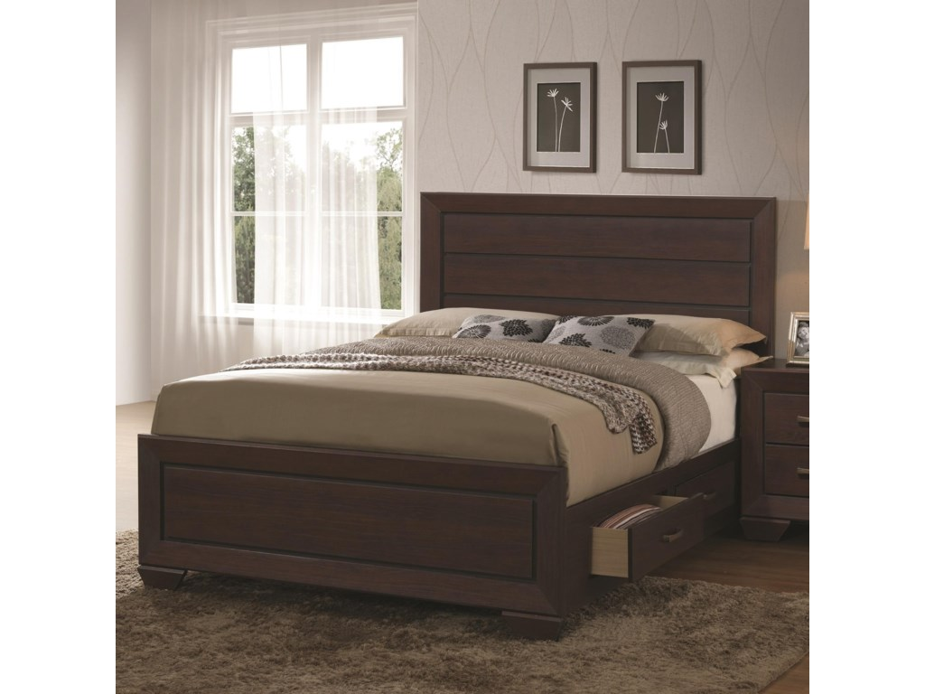 Fenbrook Transitional Queen Bed With Storage Drawers By Coaster