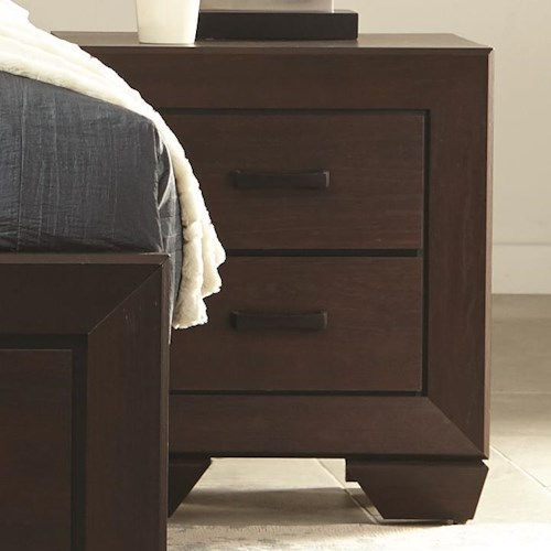 Coaster Fenbrook Transitional Two Drawer Nightstand