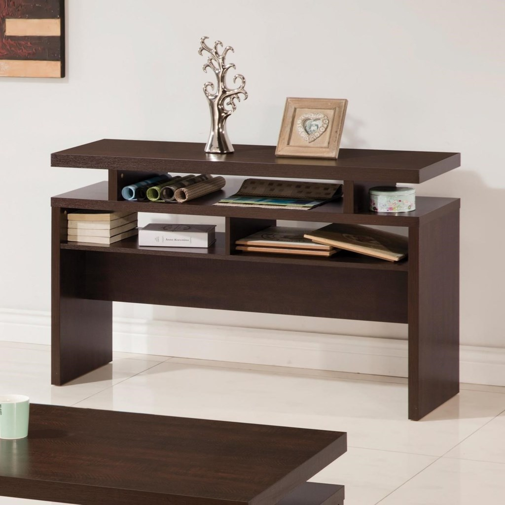 Coaster Fenella Modern Sofa Table With 2 Shelves - Dunk & Bright Furniture  - Sofa Tables/Consoles