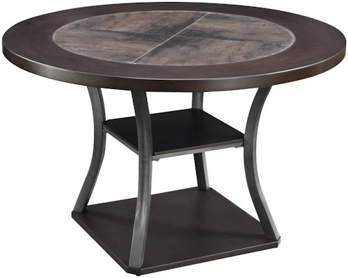 Coaster Ferdinand Round Dining Table with 2 Shelves