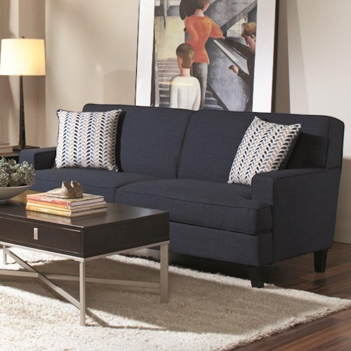Coaster Finley Transitional Styled Sofa With Track Arms Furniture Superstore Rochester Mn