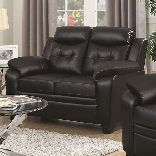 Coaster Finley Loveseat with Extreme Padding