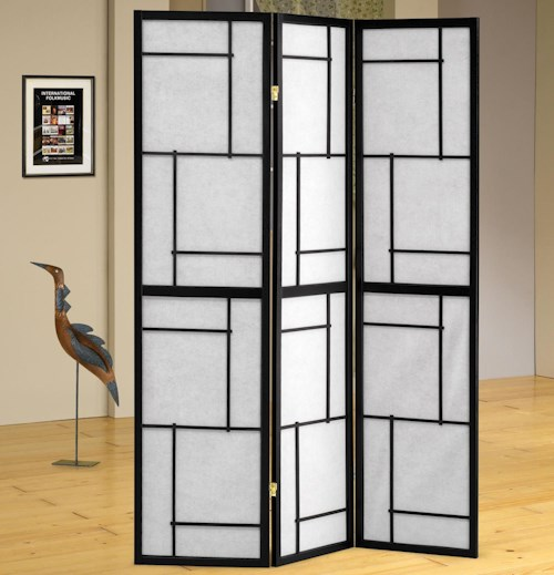 Coaster Folding Screens Three Panel Folding Floor Screen
