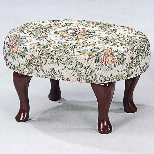 Genial Coaster Foot Stools Cherry Finish Upholstered Foot Stool With Shapely Legs